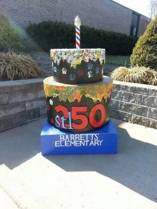 Cake #16! At Barrett's Elementary School