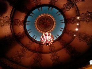 The ceiling at the Fox - totally not frowned upon to be taking a picture of this before the show