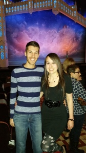 Mercutio and Cake Monster at the Book of Mormon