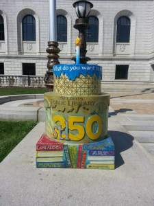 Cake #70 at the St. Louis Public Library
